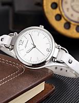baratos -SHIFENMEI Mulheres Quartzo Único Criativo relógio Relógio de Moda Japanês Calendário Impermeável Couro Legitimo Banda Luxo Casual Preta