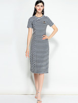 cheap -MARY YAN&YU Women's Simple Cute A Line Dress - Striped