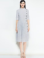 cheap -MARY YAN&YU Women's Cute Swing Dress - Polka Dot Stand