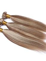 cheap -Brazilian Hair Wavy Ombre Hair Weaves / One Pack Solution / Human Hair Extensions 3 Bundles 10-28inch Human Hair Weaves Soft / Women /