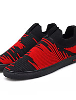 Недорогие -Муж. обувь Трикотаж Весна / Осень Удобная обувь Кеды Черный / Черно-белый / Черный / Красный