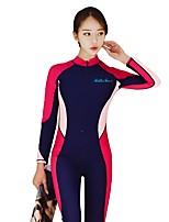 cheap -Women's Dive Skin Suit Comfortable Removable Cups Compression Polyester Nylon Spandex Long Sleeves Diving Suits Surfing Dive Wakesurfing