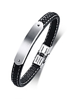 cheap -Men's Leather Cool Leather Bracelet - Casual Fashion Circle Black Bracelet For Daily School