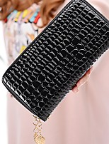 cheap -Women's Bags Wallet Zipper for Outdoor All Seasons Black Yellow Fuchsia