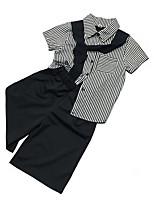 cheap -Kids Girls' Striped Short Sleeves Clothing Set