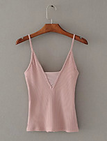 cheap -Women's Basic Tank Top-Solid Colored