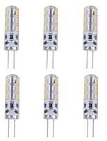 baratos -6pcs 1W 90lm G4 Luminárias de LED  Duplo-Pin T 24 Contas LED SMD 3014 Decorativa Verde Azul Vermelho 12V