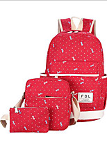 cheap -Women's Bags Canvas Bag Set 3 Pcs Purse Set Zipper for Casual Green / Black / Red