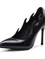 abordables -Femme Chaussures Similicuir Eté / Automne Confort / Nouveauté Chaussures à Talons Talon Aiguille Bout pointu Blanc / Noir / Vin