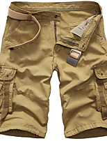 cheap -Men's Hiking Cargo Pants Outdoor Loose Breathable Quick Dry Front Zipper Soft Cotton Bottoms White Black Yellow Army Green Orange Fishing Climbing Camping / Hiking / Caving 29 30 31 32 34
