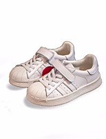 cheap -Girls' Boys' Shoes Cowhide Spring Comfort Sneakers for Casual White