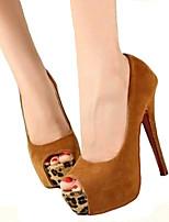 abordables -Femme Chaussures Similicuir Printemps / Eté Escarpin Basique Chaussures à Talons Talon Cône Bout ouvert Noeud Noir / Rouge