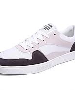 preiswerte -Herrn Schuhe Stoff Frühling / Herbst Komfort Sneakers Weiß / Schwarz