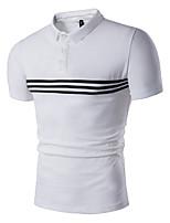 cheap -Men's Basic Polo - Striped