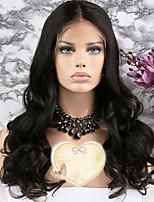 Недорогие -Remy Парик Бразильские волосы Волнистый Стрижка каскад 130% плотность С детскими волосами / 100% девственница Нейтральный Короткие /