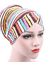 Недорогие -Жен. Классический Широкополая шляпа Полоски / Леопард