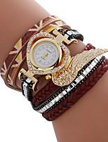 baratos -Mulheres Bracele Relógio Chinês imitação de diamante / Relógio Casual PU Banda Heart Shape / Fashion Preta / Branco / Azul