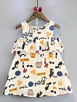 abordables -Enfants / Bébé Fille Géométrique Sans Manches Robe
