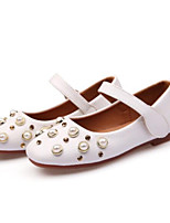 cheap -Girls' Shoes Leatherette Summer Comfort Flats for Outdoor White Black Pink