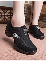 cheap -Women's Dance Sneakers Tulle Sneaker Low Heel Dance Shoes Black / Performance / Practice