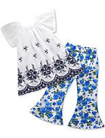 cheap -Kids Toddler Girls' Floral Print Sleeveless Clothing Set