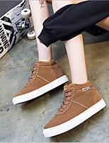 abordables -Femme Chaussures Polyuréthane Printemps Confort Basket Talon Plat pour Noir Gris Marron
