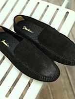 abordables -Homme Chaussures Cuir Hiver Moccasin Confort Mocassins et Chaussons+D6148 Noir Gris Kaki