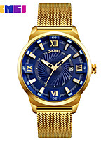 cheap -SKMEI Men's Quartz Wrist Watch Dress Watch Calendar / date / day Water Resistant / Water Proof Large Dial Casual Watch Stainless Steel
