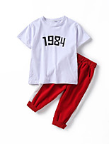 cheap -Kids Boys' Color Block Short Sleeve Clothing Set