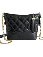 cheap -Women's Bags PU Shoulder Bag Zipper Black / Blushing Pink / Silver