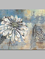 cheap -Oil Painting Hand Painted - Abstract / Floral / Botanical Vintage Canvas