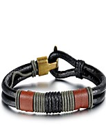 cheap -Men's 1 Bangles - Vintage Geometric Brown Bracelet For Gift Daily