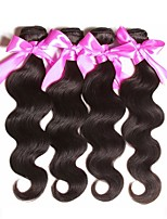cheap -Malaysian Hair Wavy Unprocessed Human Hair Natural Color Hair Weaves / Human Hair Extensions 4 Bundles Human Hair Weaves Best Quality / New Arrival / For Black Women Natural Black Human Hair