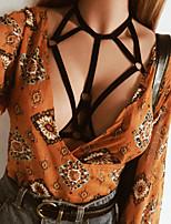 Недорогие -Жен. Пояс для чулок / подвязки Ночное белье - Открытая спина, Однотонный
