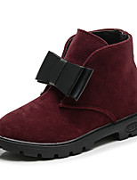 cheap -Girls' Shoes Nubuck leather Spring & Fall Comfort / Fashion Boots Boots Walking Shoes for Kids Black / Gray / Wine
