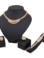 cheap -Women's Jewelry Set - Gold Plated Classic, European, Fashion Include Chain Bracelet / Hoop Earrings / Ring Gold For Wedding / Birthday