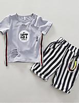 Недорогие -Дети Мальчики Геометрический принт С короткими рукавами Набор одежды