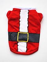 abordables -Chiens / Chats / Animaux de Compagnie Gilet Vêtements pour Chien Noël / Amérique / Etats-Unis / Bande dessinée Rouge Coton Costume Pour