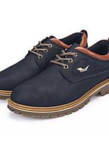 baratos -Homens sapatos Couro Ecológico Primavera Outono Solados com Luzes Oxfords para Casual Preto Azul