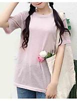 economico -T-shirt Per donna Per uscire Tinta unita