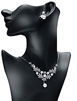 cheap -Women's Cubic Zirconia Jewelry Set - Ball Fashion, Elegant Include Drop Earrings / Pendant Necklace White For Wedding / Engagement