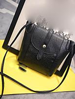 cheap -Women's Bags PU Shoulder Bag Zipper Red / Beige / Gray