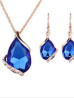 cheap -Women's Jewelry Set - Gold Plated Simple, European, Fashion Include Pendant Necklace / Bridal Jewelry Sets Blue For Wedding / Daily