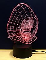 abordables -1pc Veilleuse 3D Changer USB Soulagement de stress et l'anxiété / Décoration / Sécurité 5V