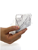abordables -Funda Para Apple iPhone X / iPhone 7 Ultrafina / Diseños / Encantador Funda Trasera Mármol Suave TPU para iPhone X / iPhone 8 Plus /