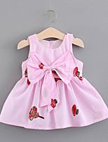 economico -Bambino (1-4 anni) Da ragazza Monocolore / Jacquard Senza maniche Vestito