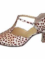 Недорогие -Жен. Обувь для модерна Шёлк На каблуках Выступление / Тренировочные На шпильке Танцевальная обувь Цвет-леопард