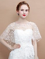 cheap -Sleeveless Lace Wedding / Birthday Women's Wrap With Acrylic Diamond / Trim Capelets