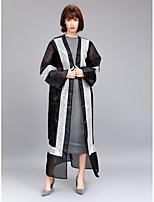 abordables -Femme Sophistiqué Chic de Rue Courte Tee Shirt Tunique Robe - Maille, Couleur Pleine Maxi