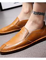Недорогие -Муж. обувь Искусственное волокно Осень Удобная обувь Мокасины и Свитер Черный / Желтый / Хаки